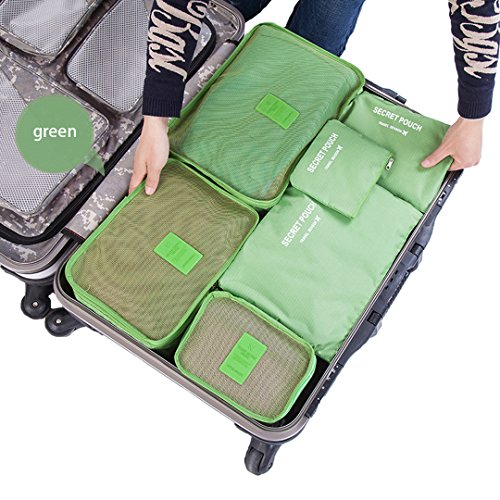 b6f95604f630 Cocoly 6 sets travel Organizers Packing Cubes Luggage Organizers  Compression Pouches