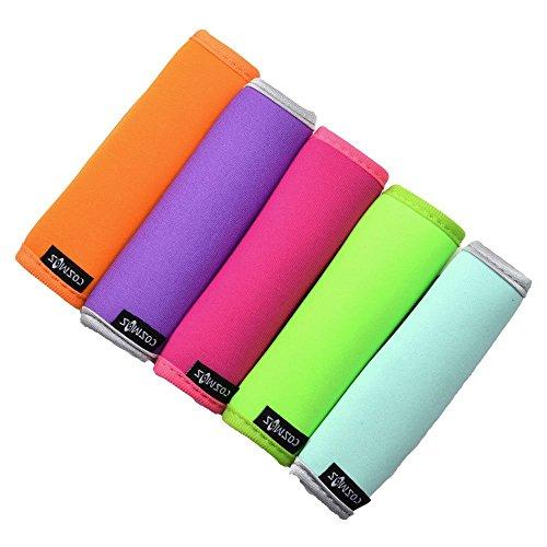 f463926fdc6c Cosmos ® 5 PCS Comfort Neoprene Handle Wraps/Grip / Identifier for Travel  Bag Luggage Suitcase + 5 PCS Travel Accessories Luggage Tag Identifier