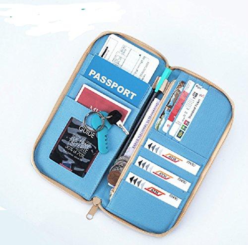 7f94a661c M Square Travel passport wallet holder safety documents organizer ...