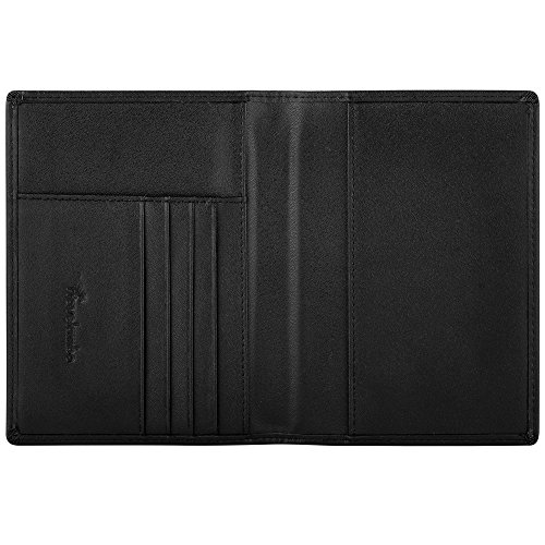 452ac1cee88c Travelambo RFID Blocking Genuine Leather Passport Holder Wallet Cover Case  for Travel Men and Women in Color Black